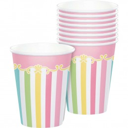 Pink Carousel Horses Paper Cups (Pack of 8)