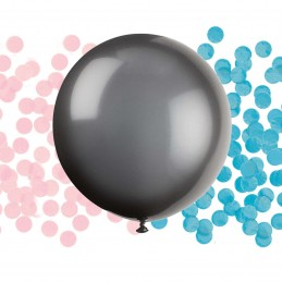 Black Gender Reveal Confetti Balloon Pop Kit