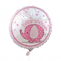 Pink Baby Elephant Baby Shower Foil Balloon