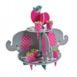 Pink Baby Elephant Snack Stand