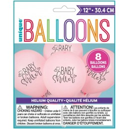 Pink Baby Shower Balloons (Pack of 8)