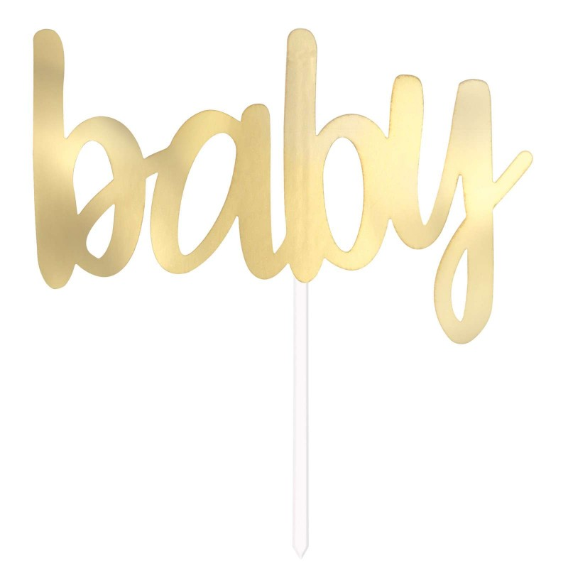 Baby Shower Gold Foil Cake Topper