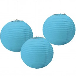 Caribbean Blue Paper Lanterns (Pack of 3)