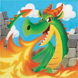 Dragons Large Napkins (Pack of 16)