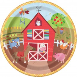 Farm Party Large Plates (Pack of 8)