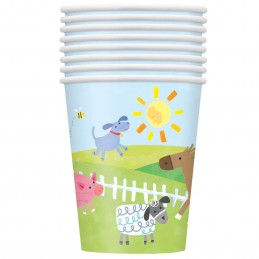 Farm Party Paper Cups (Pack of 8)