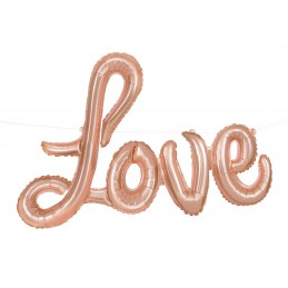 Rose Gold Love Foil Letter Balloon Banner