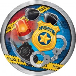 Police Party Large Plates (Pack of 8)