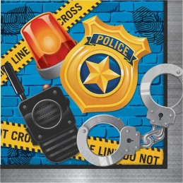 Police Party Large Napkins (Pack of 16)