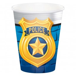 Police Party Paper Cups (Pack of 8)