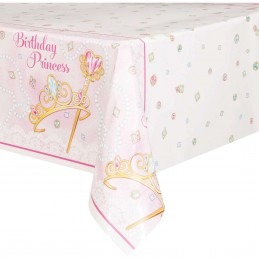 Pink Princess Plastic Tablecloth