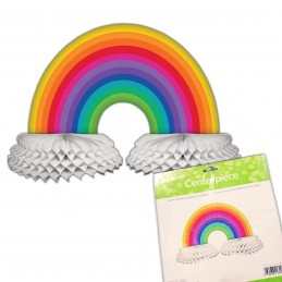 Rainbow Cloud Honeycomb Centrepiece