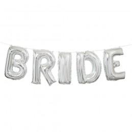 Silver Bride Foil Letter Balloon Banner