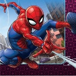 Spiderman Webbed Wonder Large Napkins (Pack of 16) | Spiderman Party Supplies