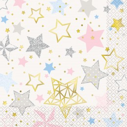 Twinkle Twinkle Little Star Large Napkins (Pack of 16)