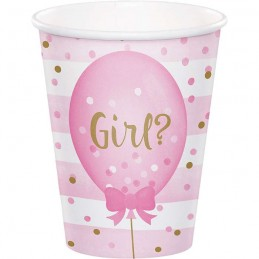 Gender Reveal Balloons Paper Cups (Pack of 8)