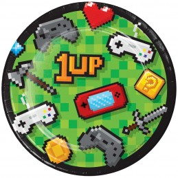 Video Game Party Small Plates (Pack of 8)