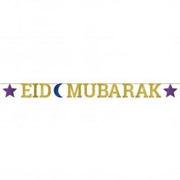 Eid Mubarak Glitter Banner