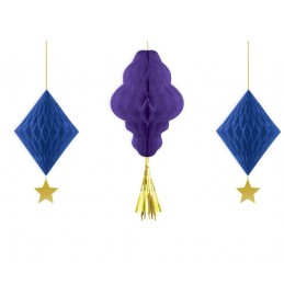 Eid Honeycomb Decorations (Set of 3)