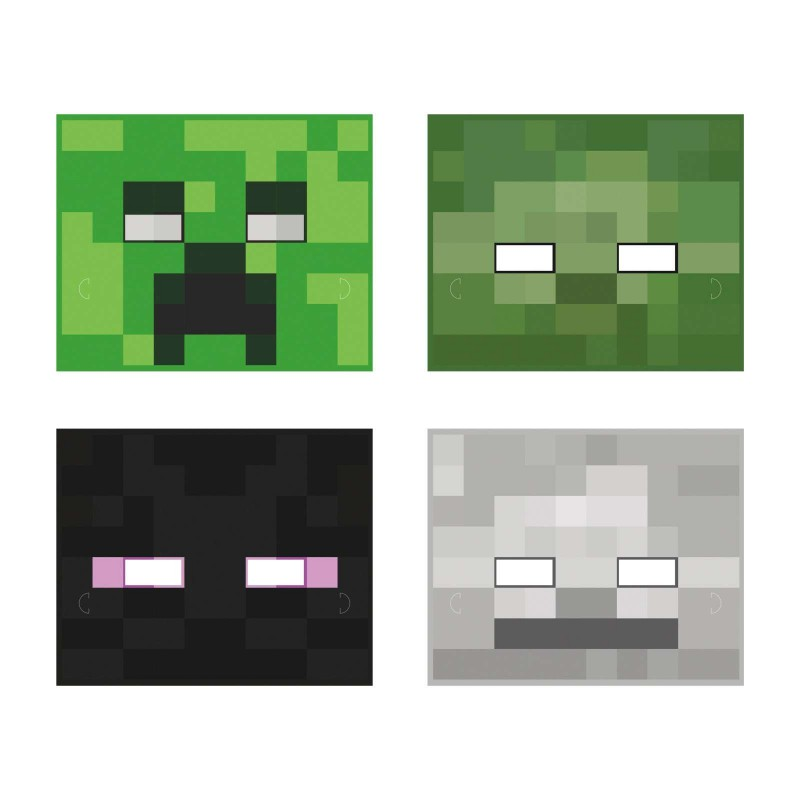 Minecraft Party Masks (Pack of 8)