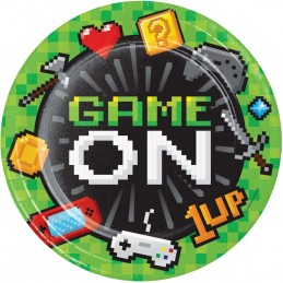 Video Game Party Large Plates (Pack of 8)