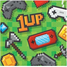 Video Game Party Small Napkins (Pack of 16)