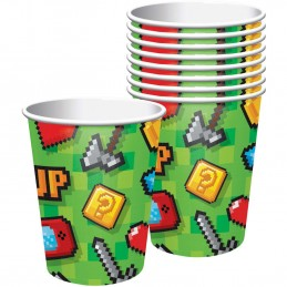 Video Game Party Cups (Pack of 8)