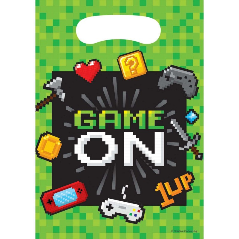 Video Game Party Loot Bags (Pack of 8)