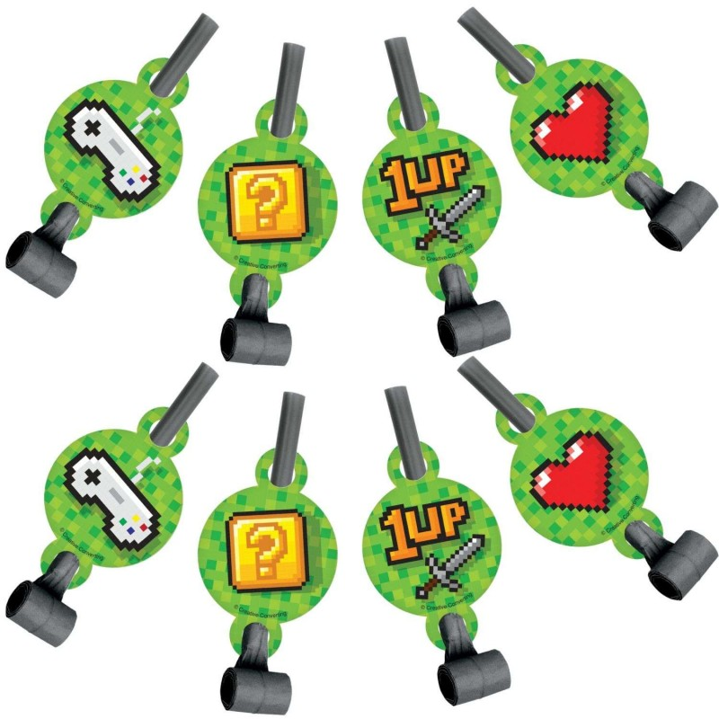 Video Game Party Blowouts (Pack of 8)