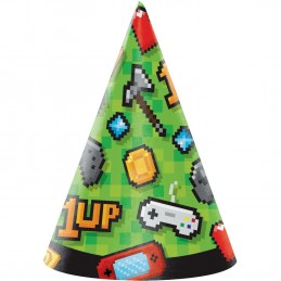 Video Game Party Hats (Pack of 8)