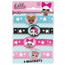 LOL Surprise Rubber Wristbands (Set of 4)   LOL Surprise Party Supplies