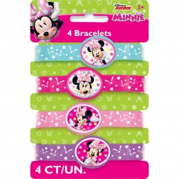 Minnie Mouse Rubber Wristbands (Set of 4)