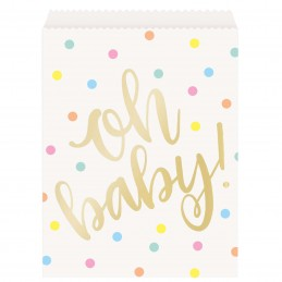 Oh Baby! Baby Shower Paper Bags (Pack of 8)