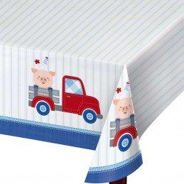 Farm 1st Birthday Boy Plastic Tablecover