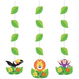Animal Jungle Hanging Swirls (Set of 3)