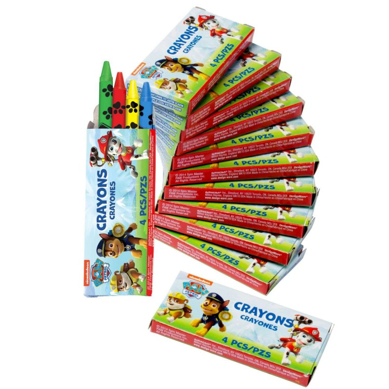 Paw Patrol Mini Crayon Boxes (Pack of 12)