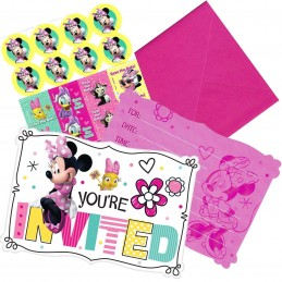 Minnie Mouse Birthday Party Invitations Set (Pack of 8)
