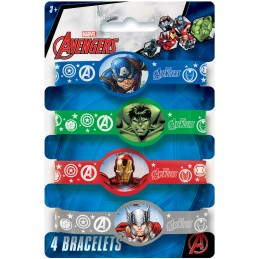 Avengers Rubber Wristbands (Pack of 4)