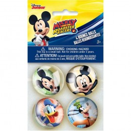Mickey Mouse Bouncy Balls (Pack of 4) | Mickey Mouse Party Supplies