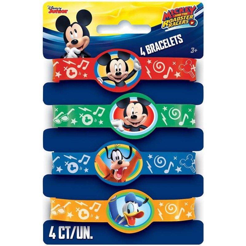 Mickey Mouse Rubber Wristbands (Set of 4)