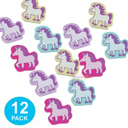 Unicorn Erasers (Pack of 12) | Unicorn Party Supplies