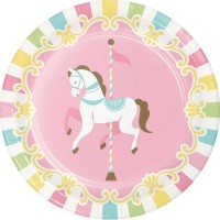 Pink Carousel Horses Baby Shower Party Supplies - Who Wants 2 Party Australia