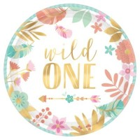 Boho 1st Birthday Party Supplies | Wild One Girl Party - Who Wants 2 Party