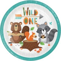 Wild One Birthday Party Supplies | Woodland Animals 1st Birthday - Who Wants 2 Party